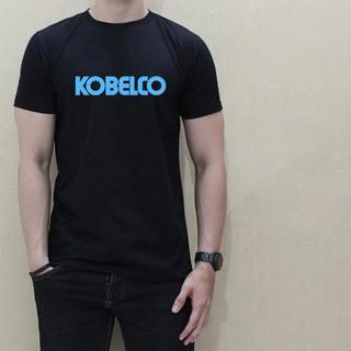Kobelco Japan Steel Men Black Personalized Tee Print Men T Shirt