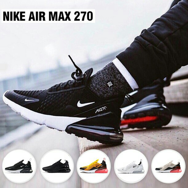 e9f992100caf2 ready stock!Nike Air Max 270 Flyknit Men Women Running Shoes Sport ...