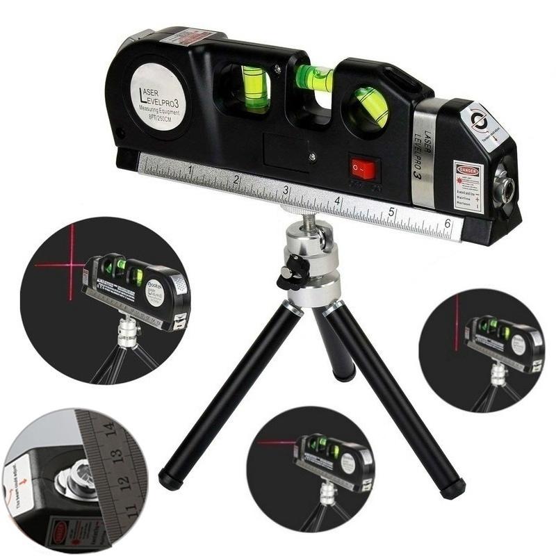 Practical Multi-Function High-Density Cross-Line Laser Ruler