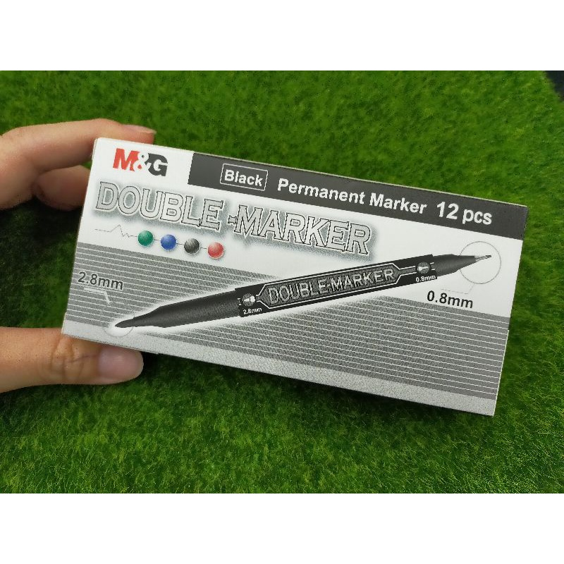 M&G Permanent Twin Marker APM21372 Black