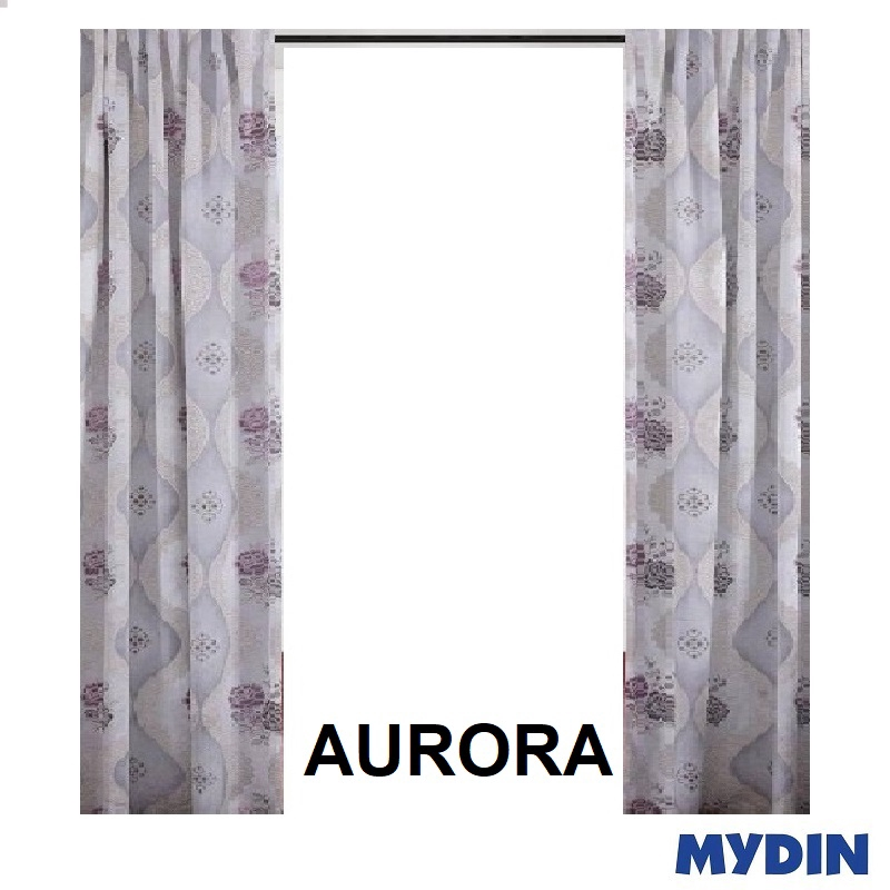 "Aurora Curtain 3 Panel Sliding Door WX20043SDA (120'' x 90"") #Raya"