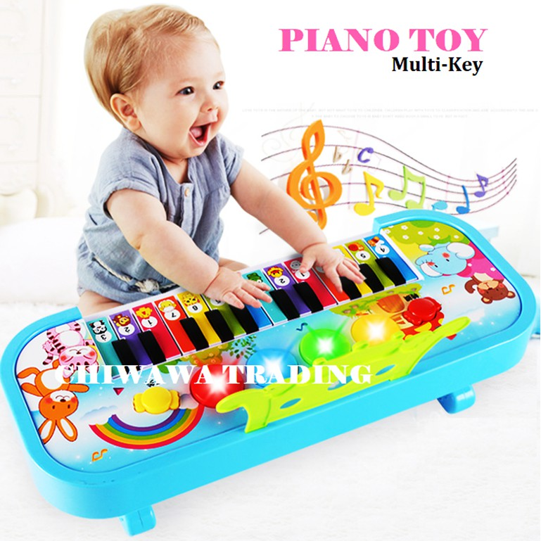 14 Keys Electronic Piano Keyboard Baby Kid Flashing LED Light Musical Instrument