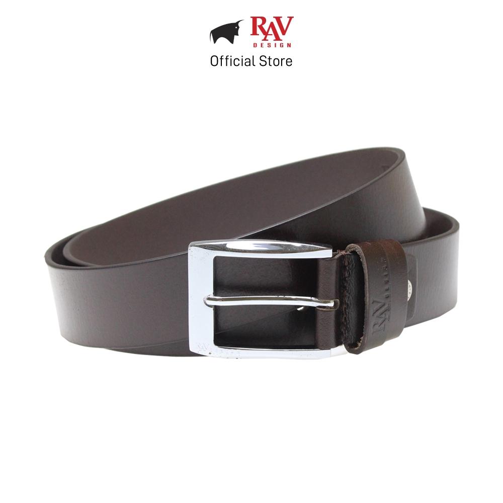 Rav Design Men's 100% Genuine Cow Leather Pin Buckle Belt - Brown (40mm) RVB560G1