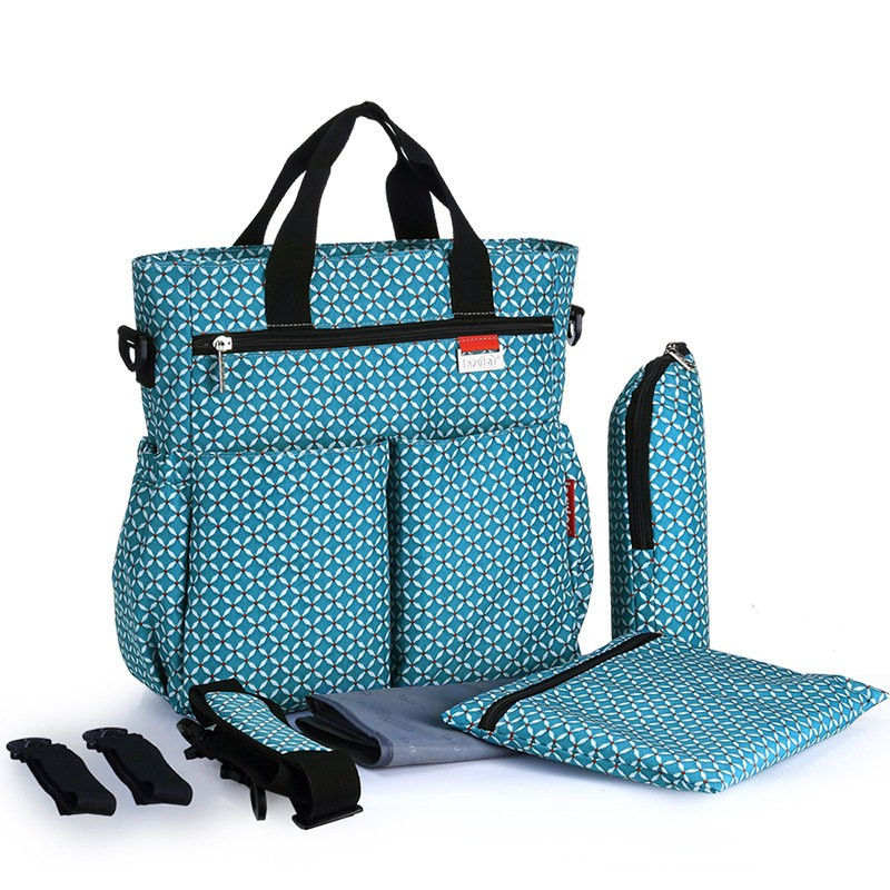 Changing Bags 6pcs Baby Nappy Changing Bag Set Mat Mummy Bags Bottle Mat Holder Maternity Baby Changing & Nappies