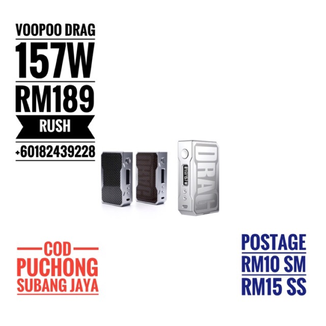 VOOPOO DRAG 157W (MOD ONLY)