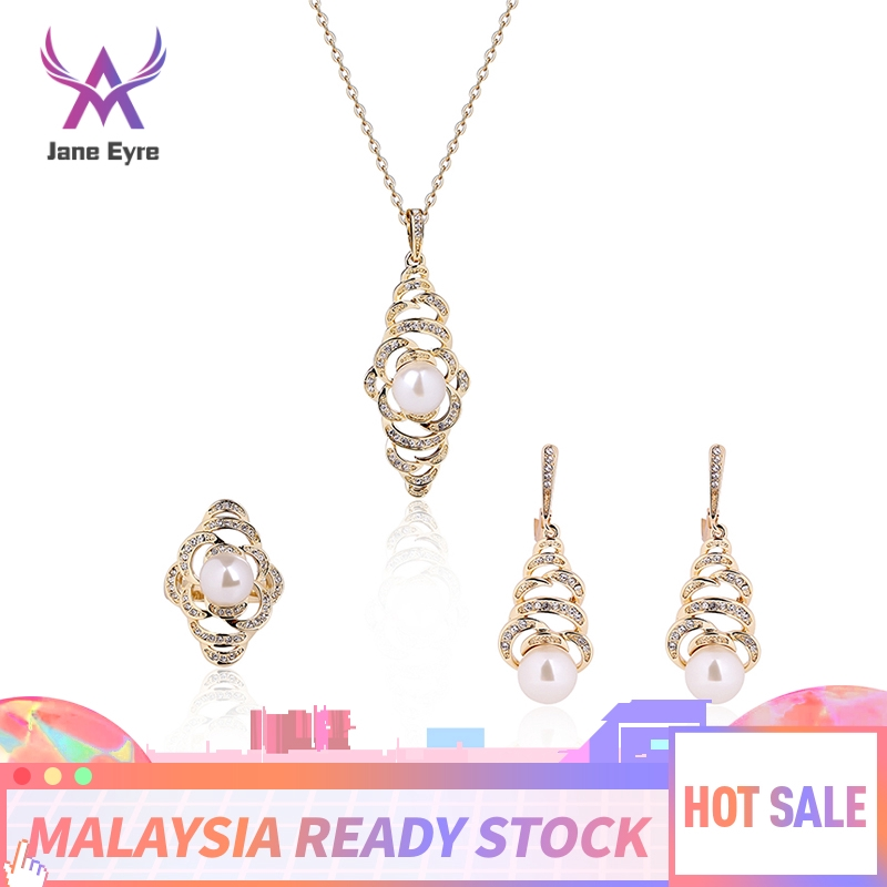 Jane Eyre Flower Bridal Necklace Earrings Jewelry Set Shopee