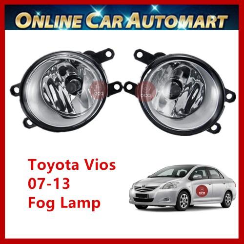 2 pcs Toyota Vios 07-13 OEM Car Fog Light/Fog Lamp (White Glass Surface)