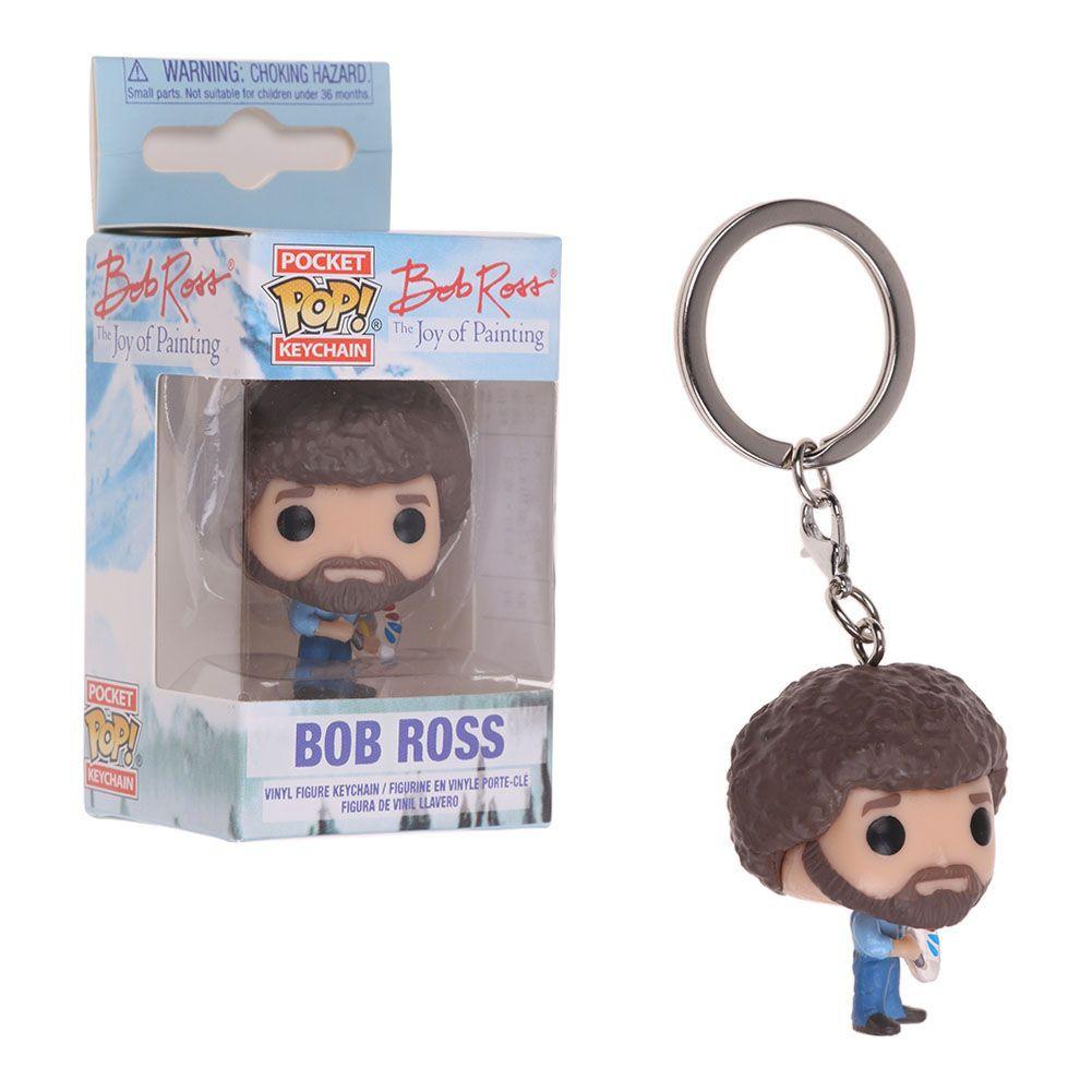 Keychain Keychains--Joy of Painting Bob Ross Pocket Pop