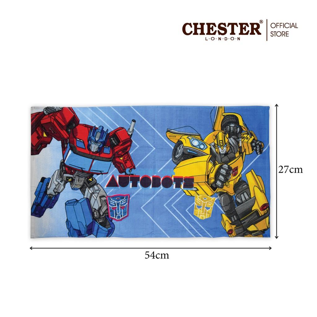 "Chester London 100% Cotton Transformers Towel - 27"" X 54"" - Blue"