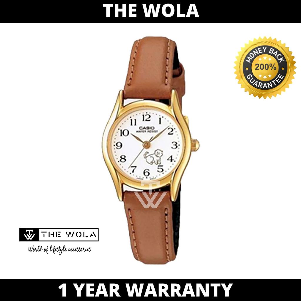 Casio Women's Analog LTP-1094Q-7B7RDF Gold tone Brown Leather Watch