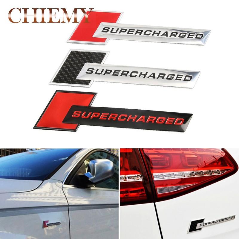 2X Supercharged Red  Emblem Bumper Fender Decal Sticker Badge Jdm Logo Adhesive