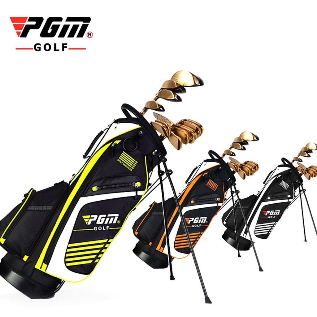 a583615727d6 PGM Golf Bag with Stand Portable Stand Bag 14 Sockets Pockets Golf Standard  Bag