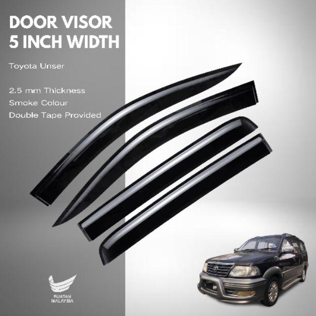 Toyota Unser Door Visor 5 Inch Width