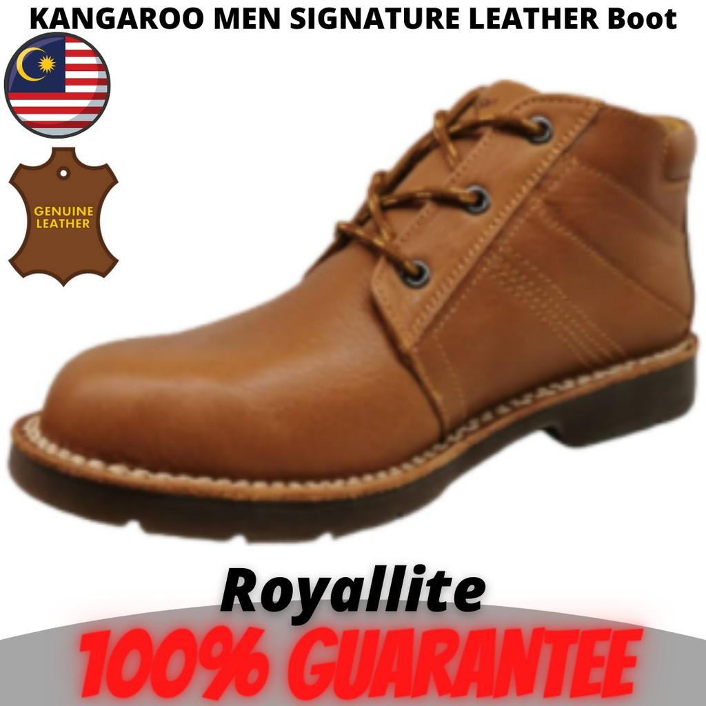 KANGAROO MEN SIGNATURE COMFORT LEATHER Boot (9534) A70Camel