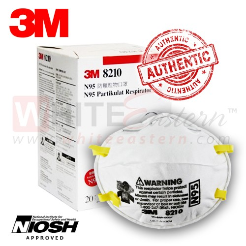 8210 N95 Pieces Mask Verified Authentic Respirator 20 Particulate 3m