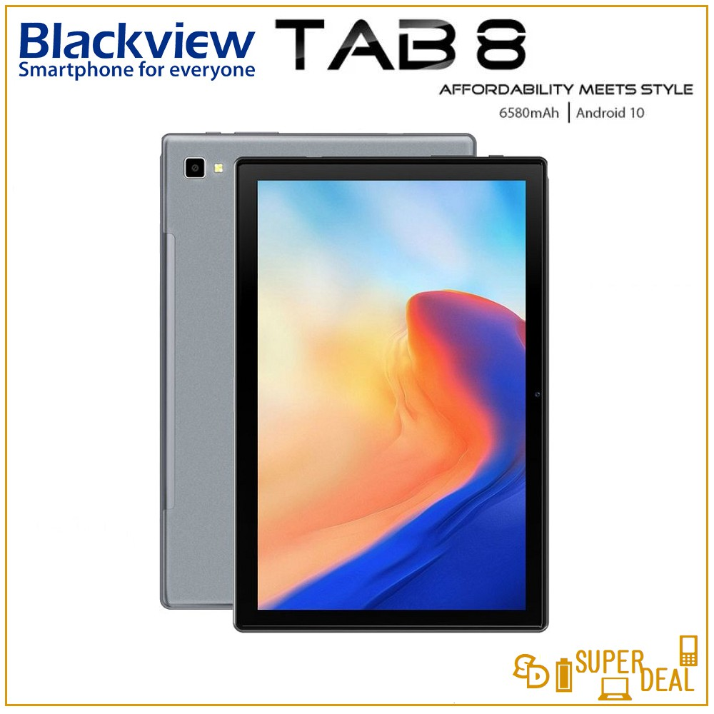 Blackview Tab 8 4G Tablet Octa Core 10.1 inch 1200*1920 FHD 4GB+64GB 13MP Android 10 Dual SIM 4G LTE Tablet PC