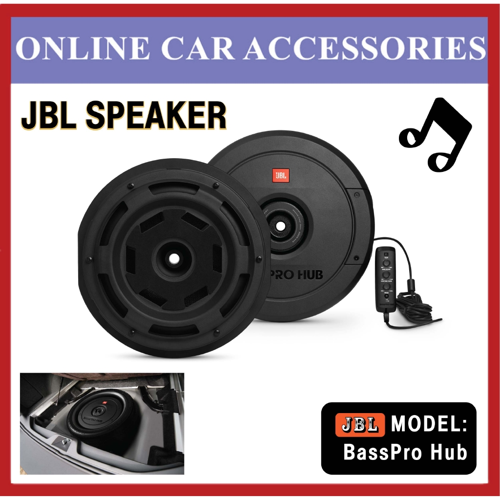 """JBL BassPro Hub 11"""""""" Spare Tire Subwoofer w/ Enclosure and Built-In Amplifier"""