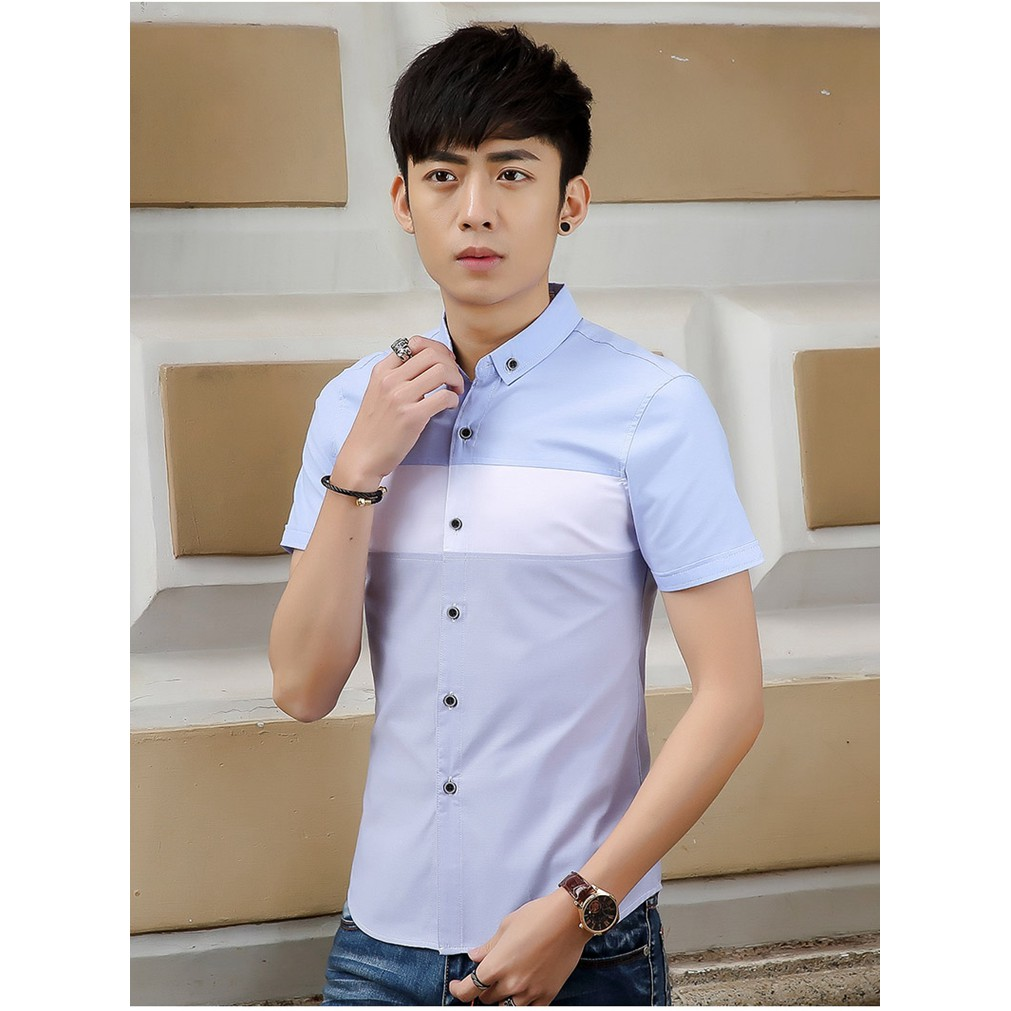 2019 New style Fashion Men shirts Casual Men simple slim shirts