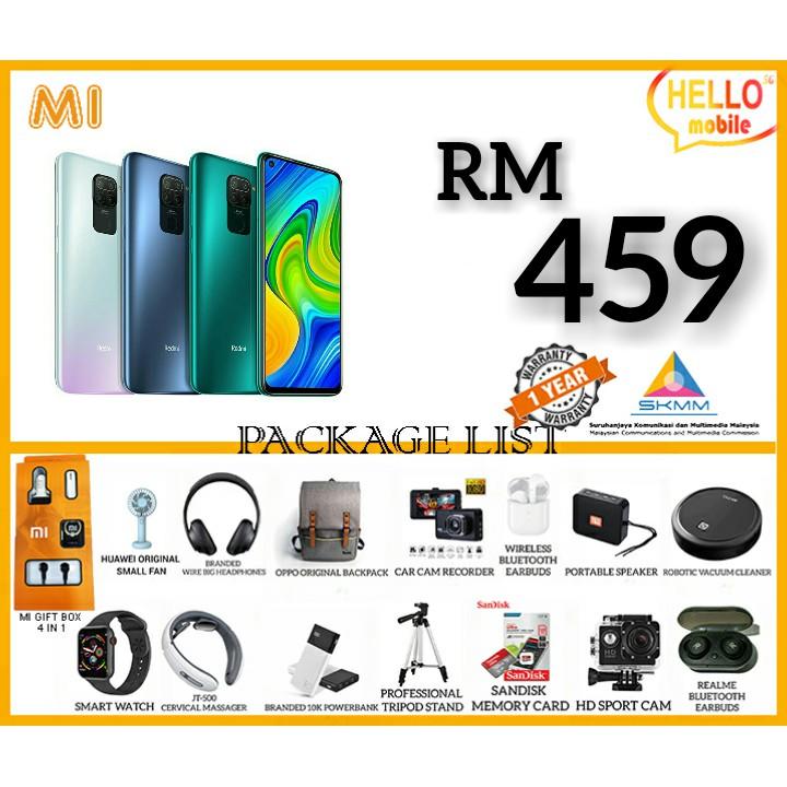 XIAOMI REDMI NOTE 9 4GB+128GB  FREE GIFT 100% WARRANTY BY XIAOMI MALAYSIA