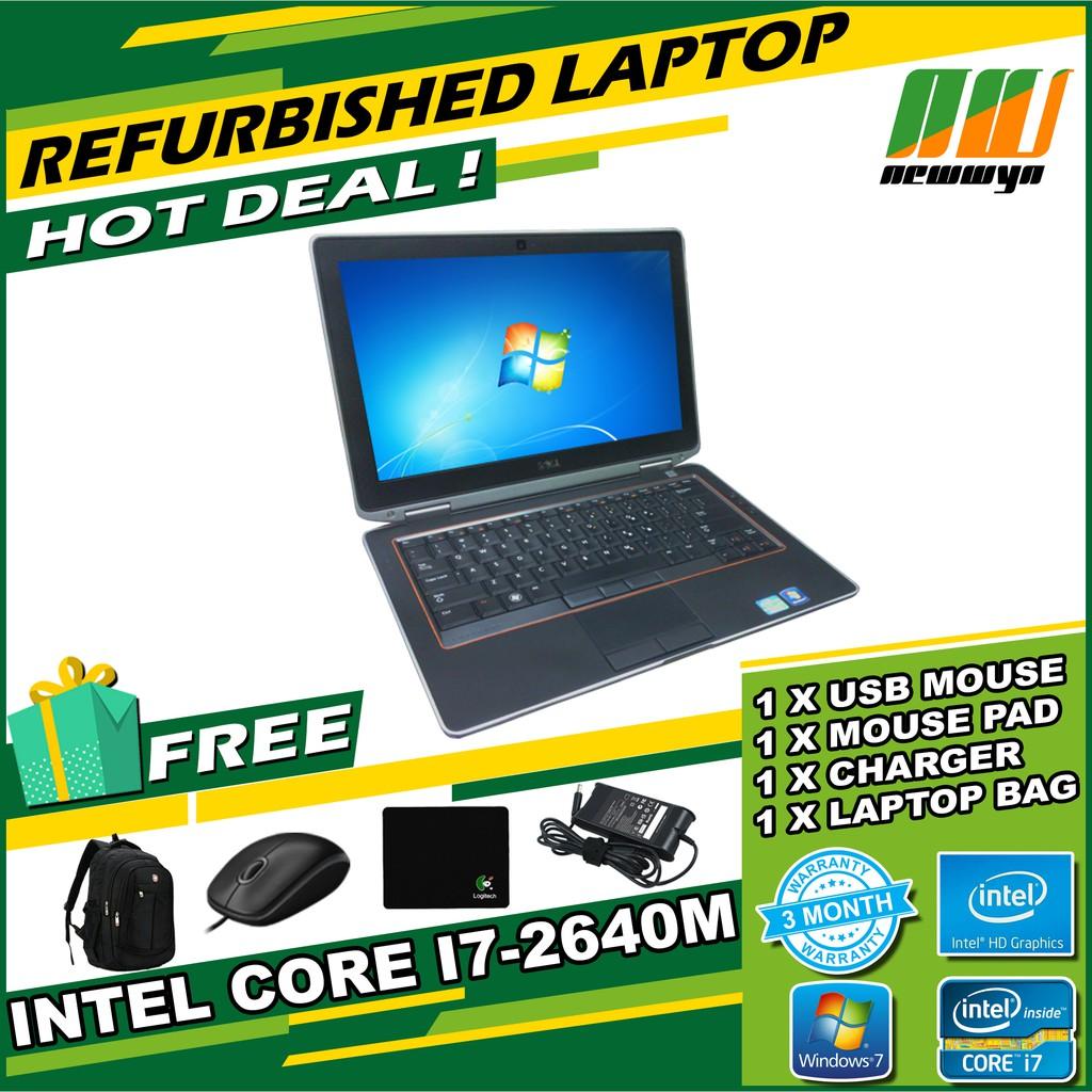 Dell Latitude E6220/Intel Core i7-2640@2 80GHz/4GB RAM/250GB HDD  [Refurbished]