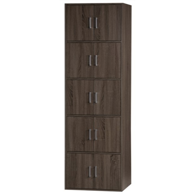 KTY DIY 5 Tier 10 Doors Book Rack /Filing Cabinet /Multipurpose Storage Cabinet /Cupboard/Rak Simpanan/书橱储物柜 (SU 9500)