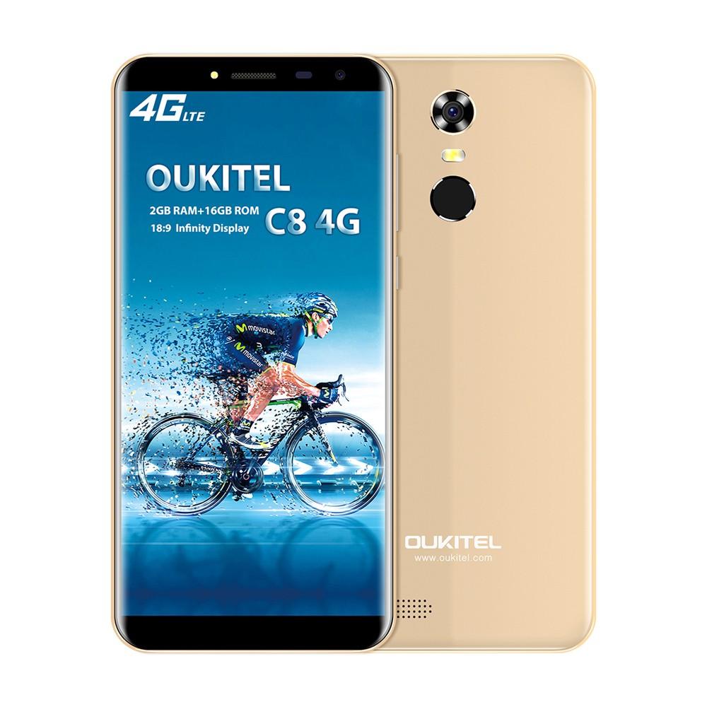 OUKITEL C8 4G Mobile Phone 18:9 5 5 Inch 2GB RAM 16GB ROM MT6737