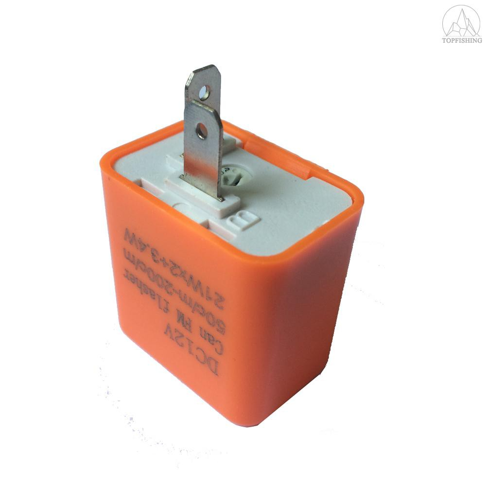 12v 2-Pin Speed LED Flasher Relay Fix Motorcycle light Hyper Flash SU Adjustable