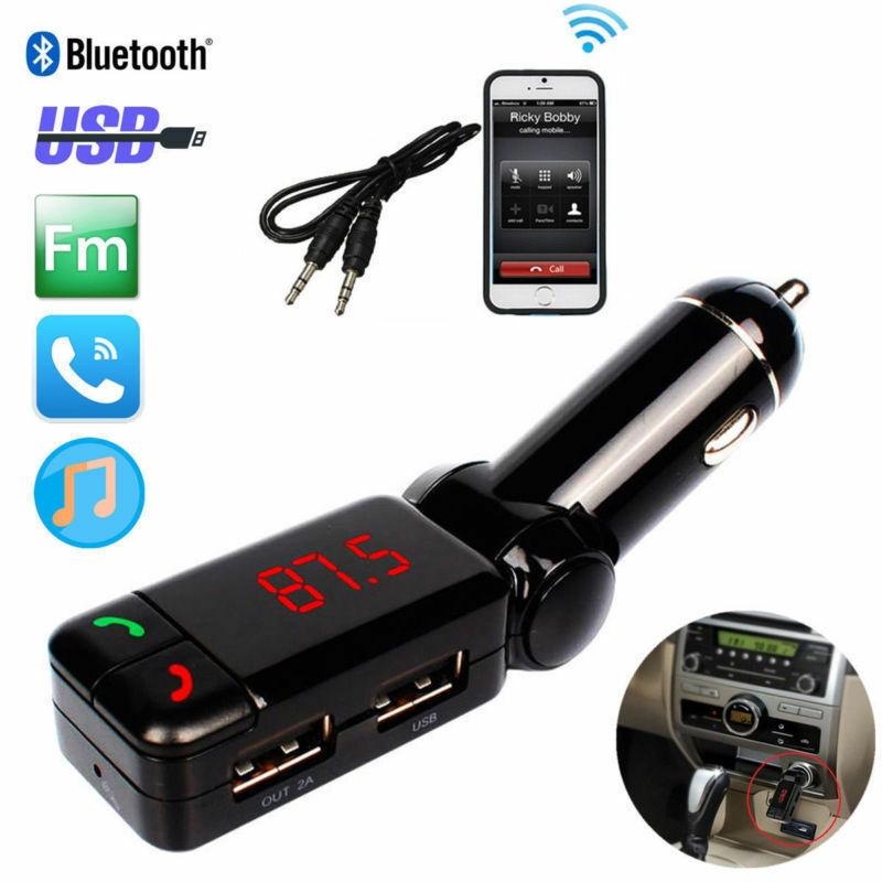 Fm Transmitter Wireless Mp3 Phone Radio Kit Bluetooth Sd Usb Charger Car Adapter