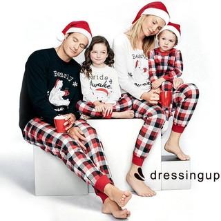 0978c20360 UNN-Family Matching Christmas Pajamas PJs Sets Kids Parents Sleepwear  Nightwear   Shopee Malaysia