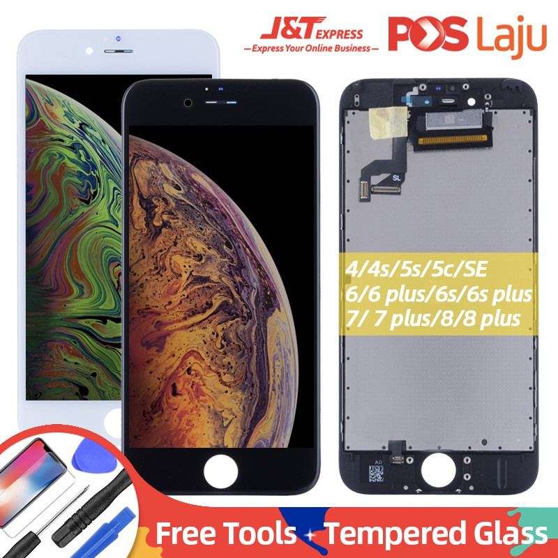 [Free Tools] Display LCD Digitizer iPhone 4 4S 5 5S 5C SE 6 6S 6Plus 6S  Plus 7 7P 8 Plus LCD Touch Screen Replacement