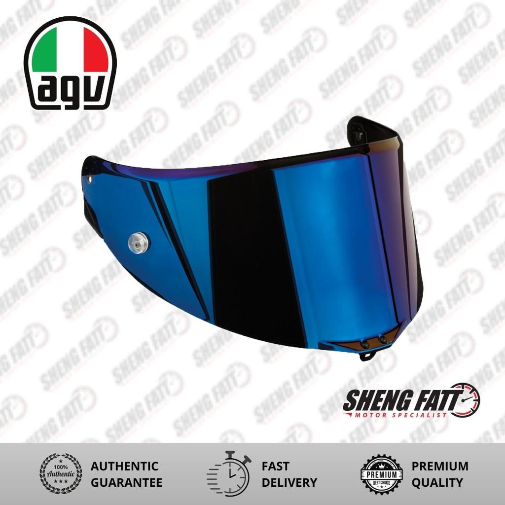 AGV Blue Mirrored Visor