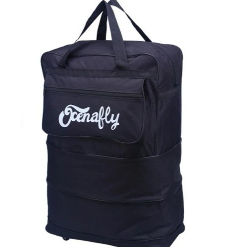 กระเป๋าเดินทางแบบพับเก็บได้ ย่อส่วนได้ ประหยัดพื้นที่มาก มีล้อไว้ลาก สามารถถือหรือสะพายได้