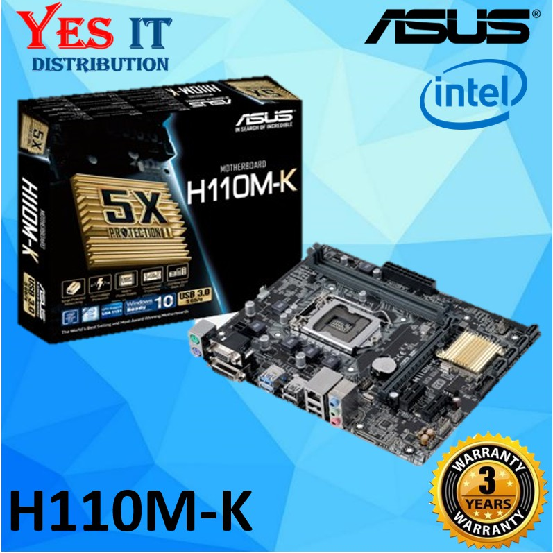 ASUS H110M-K LGA1151 DDR4 MOTHERBOARD