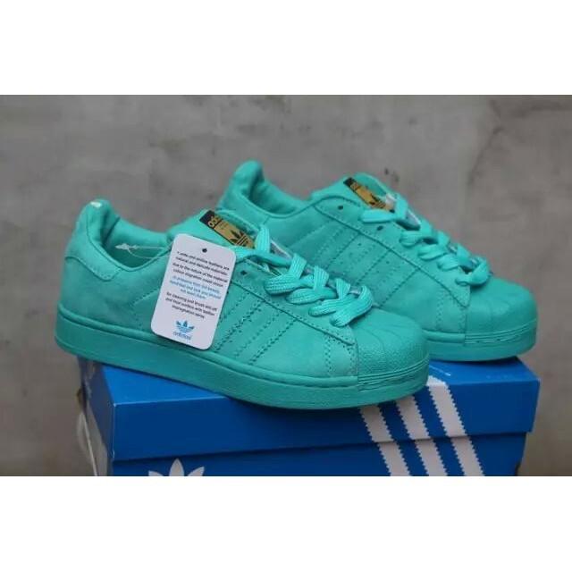 adidas superstar turquoise