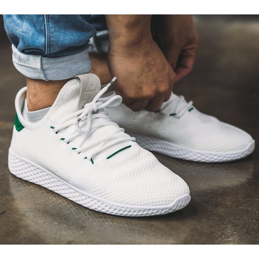 06c6caf1aa966 Adidas Pharrell Williams Tennis Hu Primeknit  White Green