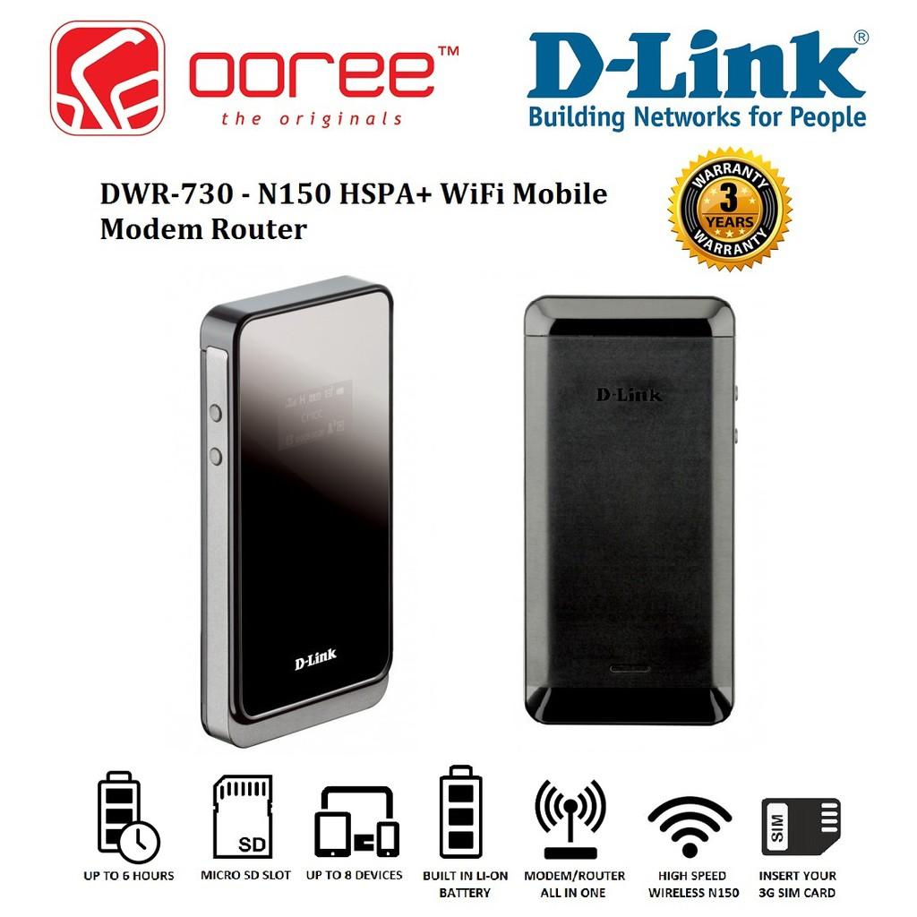 D-LINK DWR-730 N150 3G HSPA+ B1 PORTABLE WIRELESS MODEM ROUTER MIFI WiFi  DIRECT SIM SHARE MOBILE BROADBAND