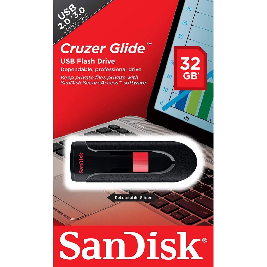 SanDisk 32GB Cruzer Glide USB 2.0 USB Drive SDCZ60-032G