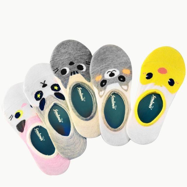 Semlouis Cute Animal Cartoon Ladies Cotton Socks