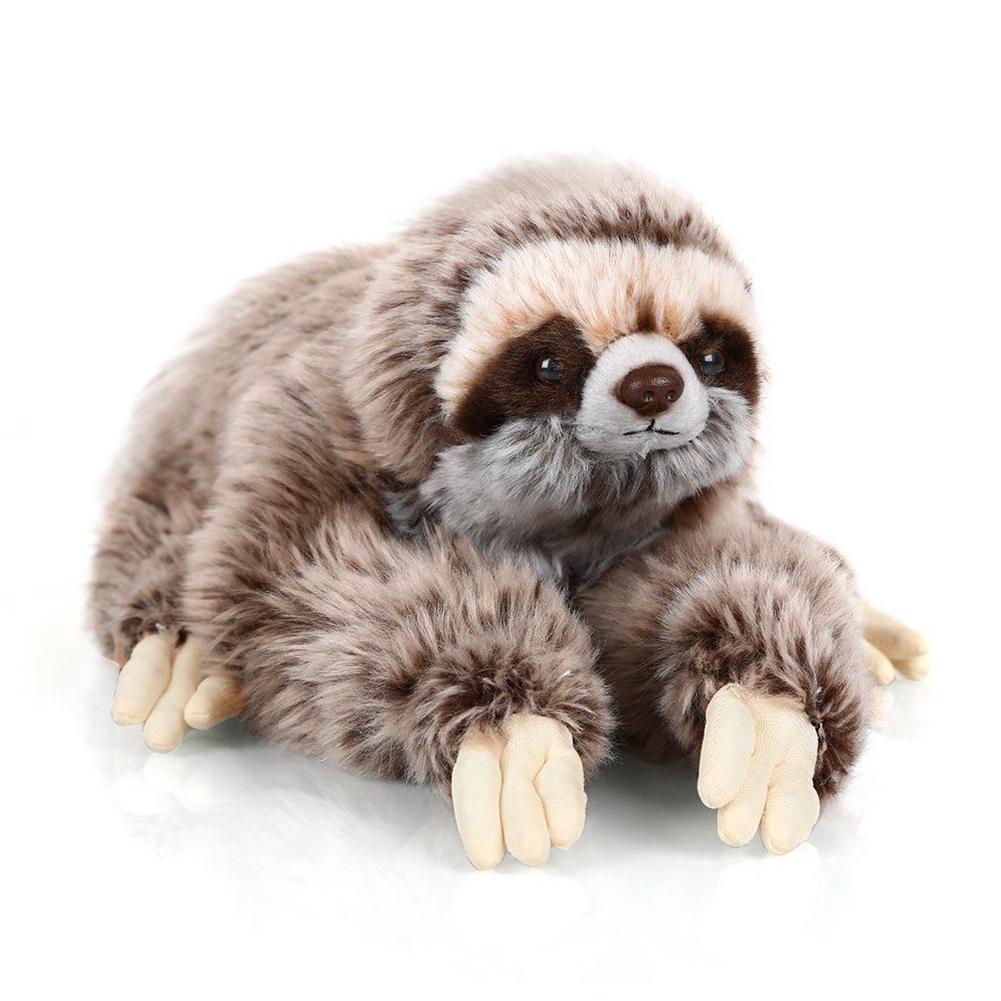 35cm Lifelike Three Toed Sloth Plush Toy Soft Stuffed Cuddly Doll Child Gift