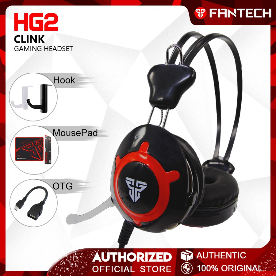 FANTECH HG2 Clink Wired Gaming Headset with accessories