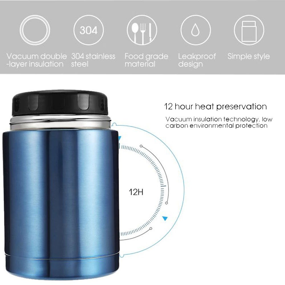 🔥Ready Stock 🔥DELLY KOREA 1000ML THERMOS FOOD CONTAINERS STAINLESS STEEL VACUUM LUNCH BOX THERMOS BPA-FREE PINK LBC-P
