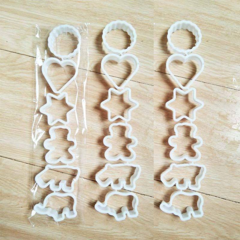 六连饼干模具 蛋糕点烘焙用具六件套 pp多形状饭团凤梨酥模具