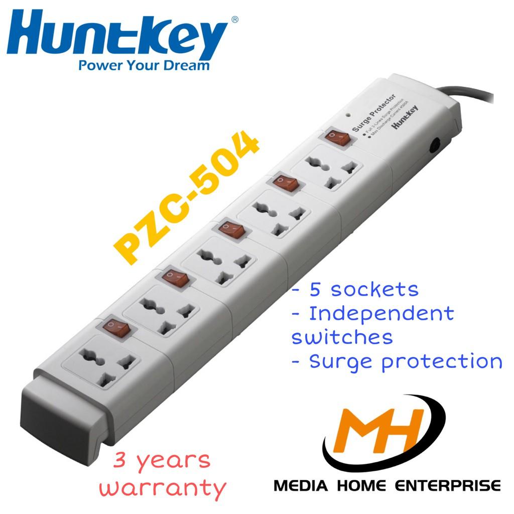 Huntkey Power Strip PZC-504 (5 universal sockets, surge protector)