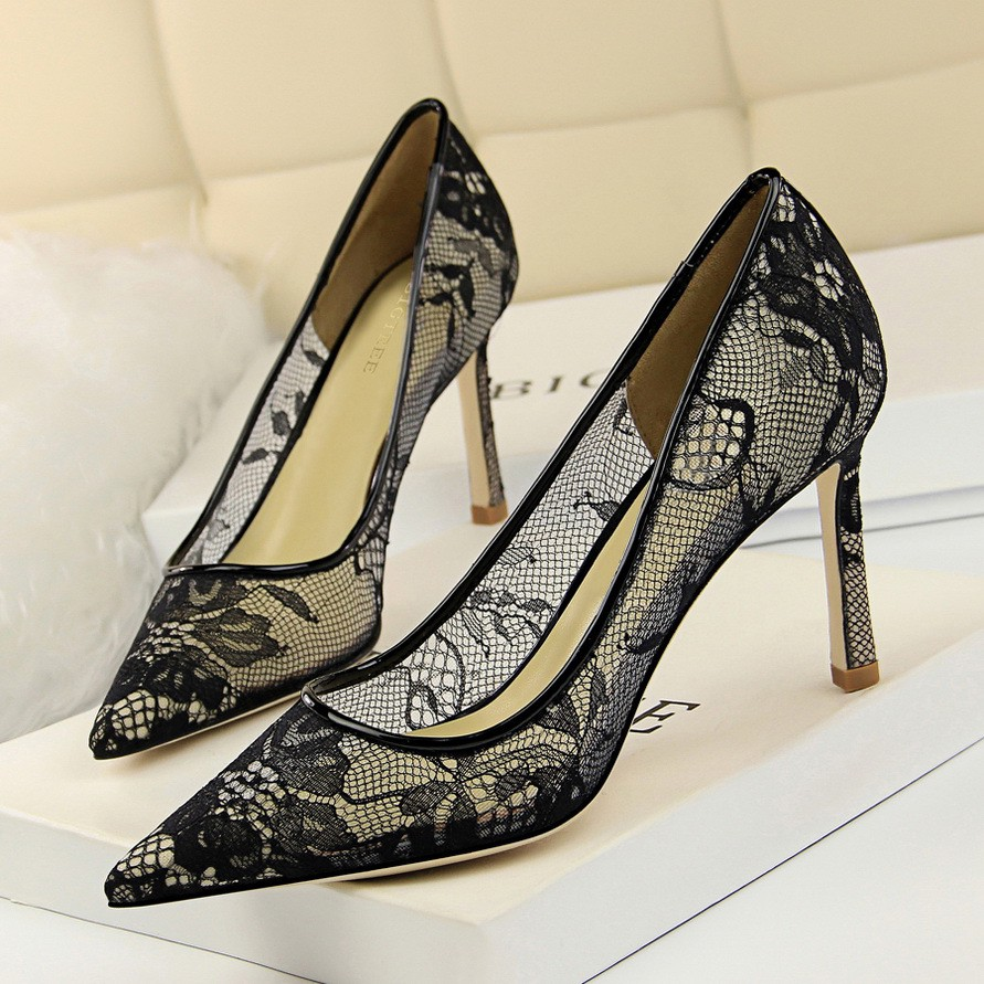 249cd2da72a hollow lace - Heels Prices and Promotions - Women s Shoes Apr 2019 ...