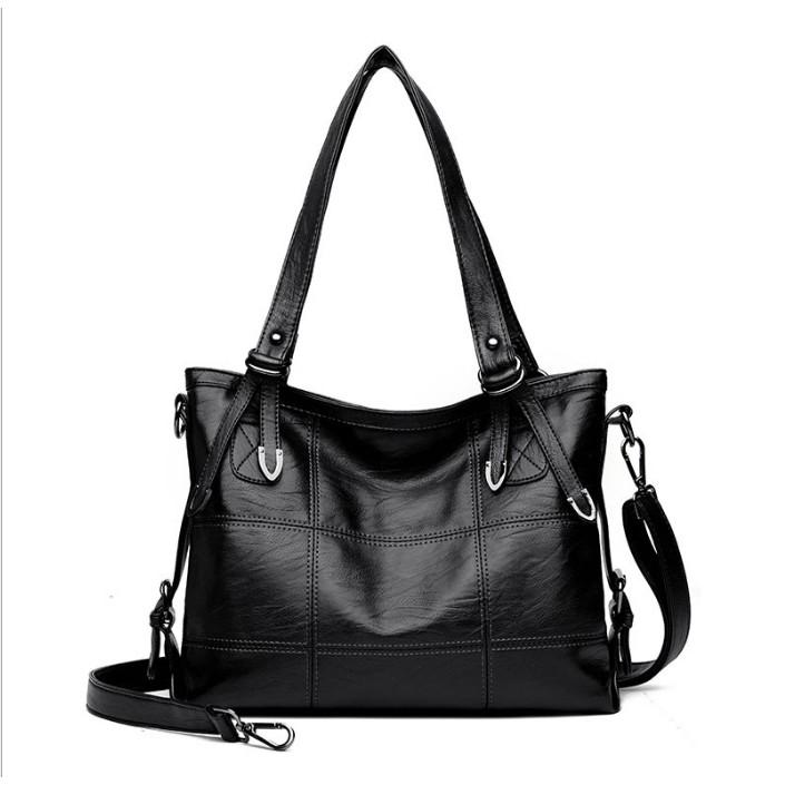 50850fddd5375 Fashion PU Leather Women Messenger Bags Ladies Big Casual Shoulder ...