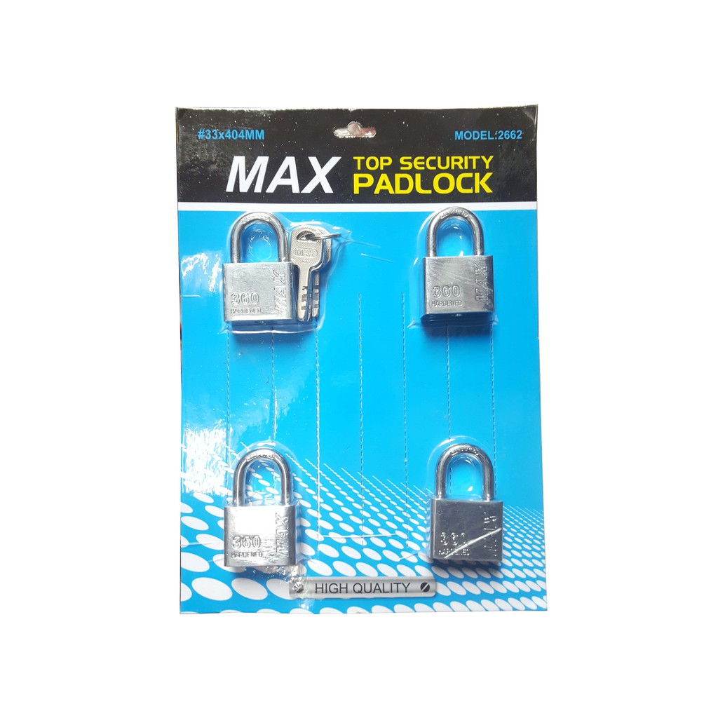 404 40MM MAX Padlock Chrome K-Alike