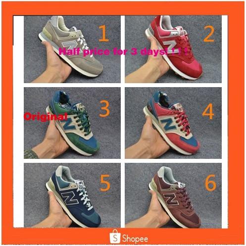 Ready stock Original new balance nb574 men women student running sport shoe with box