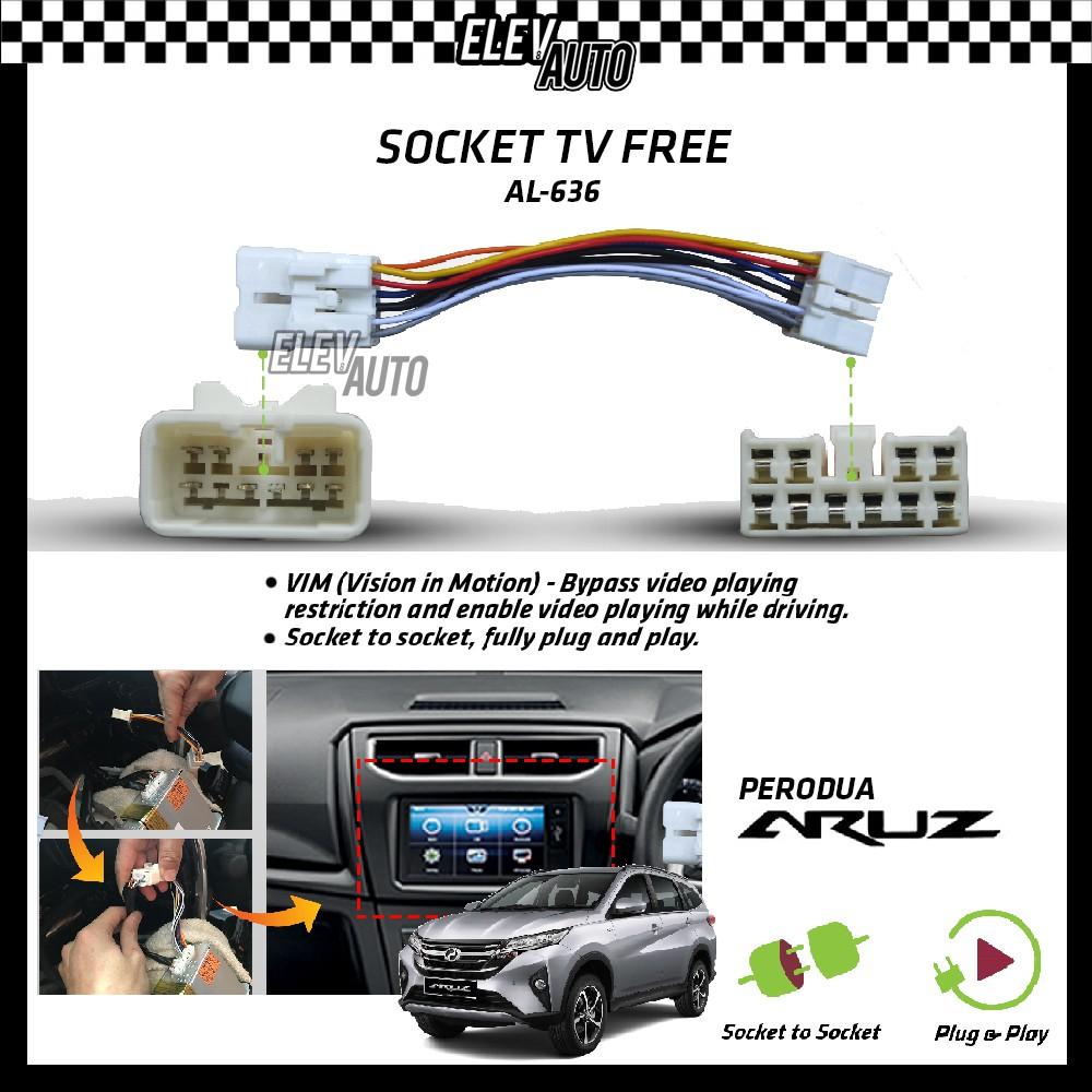 Perodua Aruz Socket TV Free (Bypass VIM) AL-636