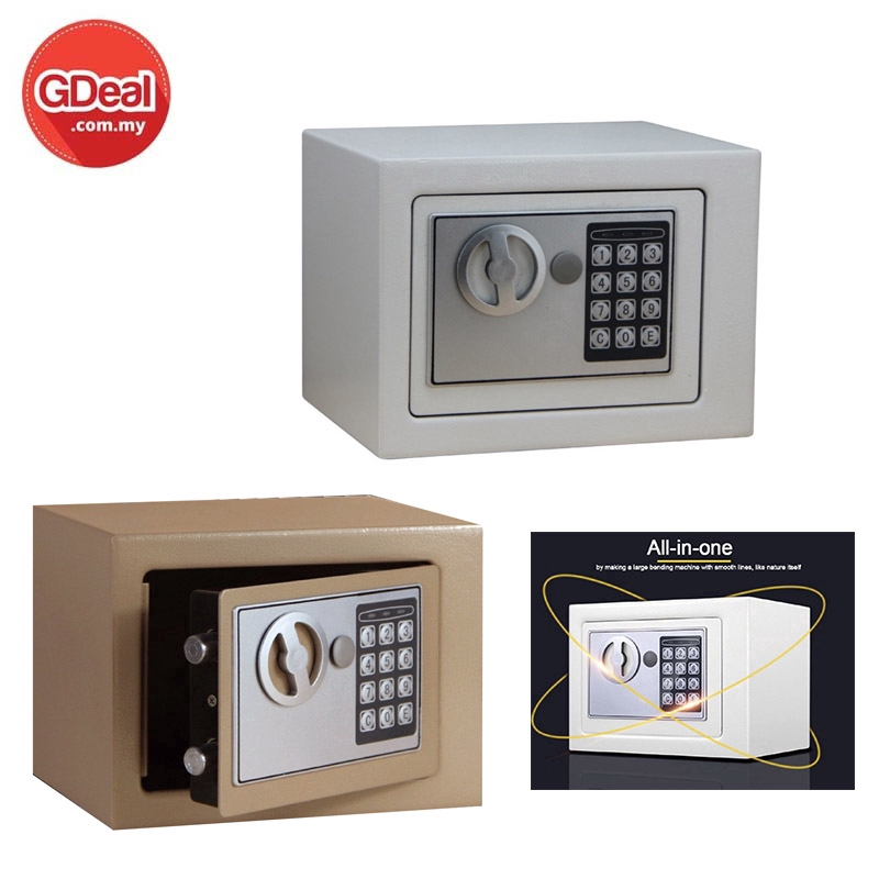 GDeal Safe Home Mini Safety Box Into The Wall Electronic Password Safe Deposit Box Office Coffer