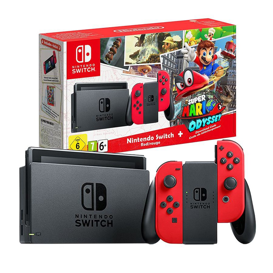 Nintendo Switch Super Mario Odyssey Bundle Maxsoft 1year Warranty Ready Stock